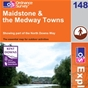 OS Explorer Map 148 Maidstone & the Medway Towns