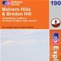 OS Explorer Map 190  Malvern Hills & Bredon Hill