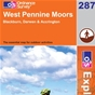 OS Explorer Map 287 West Pennine Moors