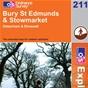 OS Explorer Map 211 Bury St Edmunds & Stowmarket