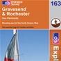 OS Explorer Map 163 Gravesend & Rochester