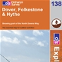 OS Explorer Map 138 Dover, Folkestone & Hythe