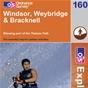 OS Explorer Map 160 Windsor, Weybridge, Bracknell