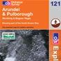 OS Explorer Map 121 Arundel & Pulborough