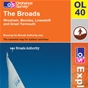 OS Explorer Map OL 40 The Broads