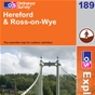 OS Explorer Map 189 Hereford & Ross-on-Wye
