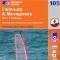 OS Explorer Map 105 Falmouth & Mevagissey