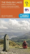 OS Explorer Map OL 4 The Lake District: NW area