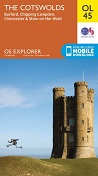 OS Explorer Map OL 45 The Cotswolds