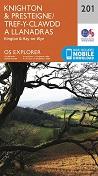 OS Explorer Map 201 Knighton & Presteigne