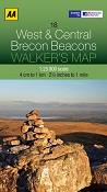 AA Walker's Map - West and Central Brecon Beacons