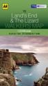 AA Walker's Map - Lands End & The Lizard