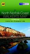 AA Walker's Map - North Norfolk Coast