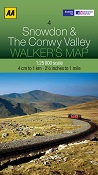 AA Walker's Map - Snowdon & The Conwy Valley