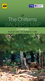 AA Walker's Map - The Chilterns