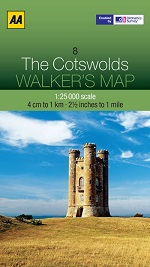 AA Walker's Maps - The Cotswolds