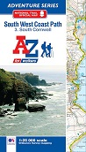 South West Coast Path South Cornwall - A-Z Adventure Atlas