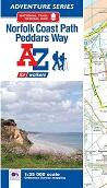 Norfolk Coast Path and Peddars Way A-Z Adventure Atlas