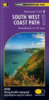 South West Coast Path: Harvey XT 40 - Minehead to St. Ives (Map 1)