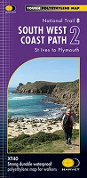 South West Coast Path: Harvey XT 40 - St Ives to Plymouth (Map 2)