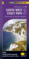 South West Coast Path: Harvey XT 40 - Plymouth to Poole Harbour (Map 3)