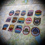 Lake District Fells patches (set of 15) - £25 off bundle deal
