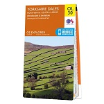 OS Explorer Map OL 30 Yorkshire Dales: North & Central areas
