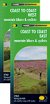 Coast to Coast Mountain Bikers Cyclists - East & West Map Set