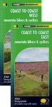 Coast to Coast Mountain Bikers Cyclists - East & West Map Set