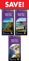South West Coast Path - set of THREE Harvey maps