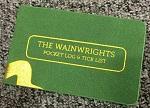 The Wainwrights Pocket Log