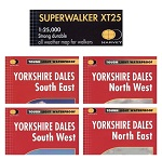 HARVEY Superwalker maps for the Yorkshire Dales - set of 4 maps