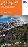 Three Peaks Challenge Map - Scafell Pike, Ben Nevis and Snowdon