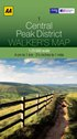 AA Walker's Map - Central Peak District
