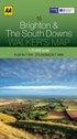 AA Walker's Map - Brighton & The South Downs
