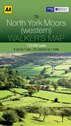AA Walker's Map - North York Moors (Western)