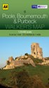 AA Walker's Map - Poole, Bournemouth & Purbeck