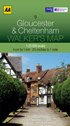 AA Walker's Map - Gloucester & Cheltenham